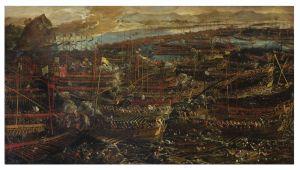 Bataille de Lépante par Jacopo Ribusti Tintoretto