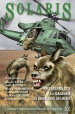 Couverture du Solaris 207 - été 2018. Notez comme ce magazine de science-fiction francophone en est à son 207e numéro...