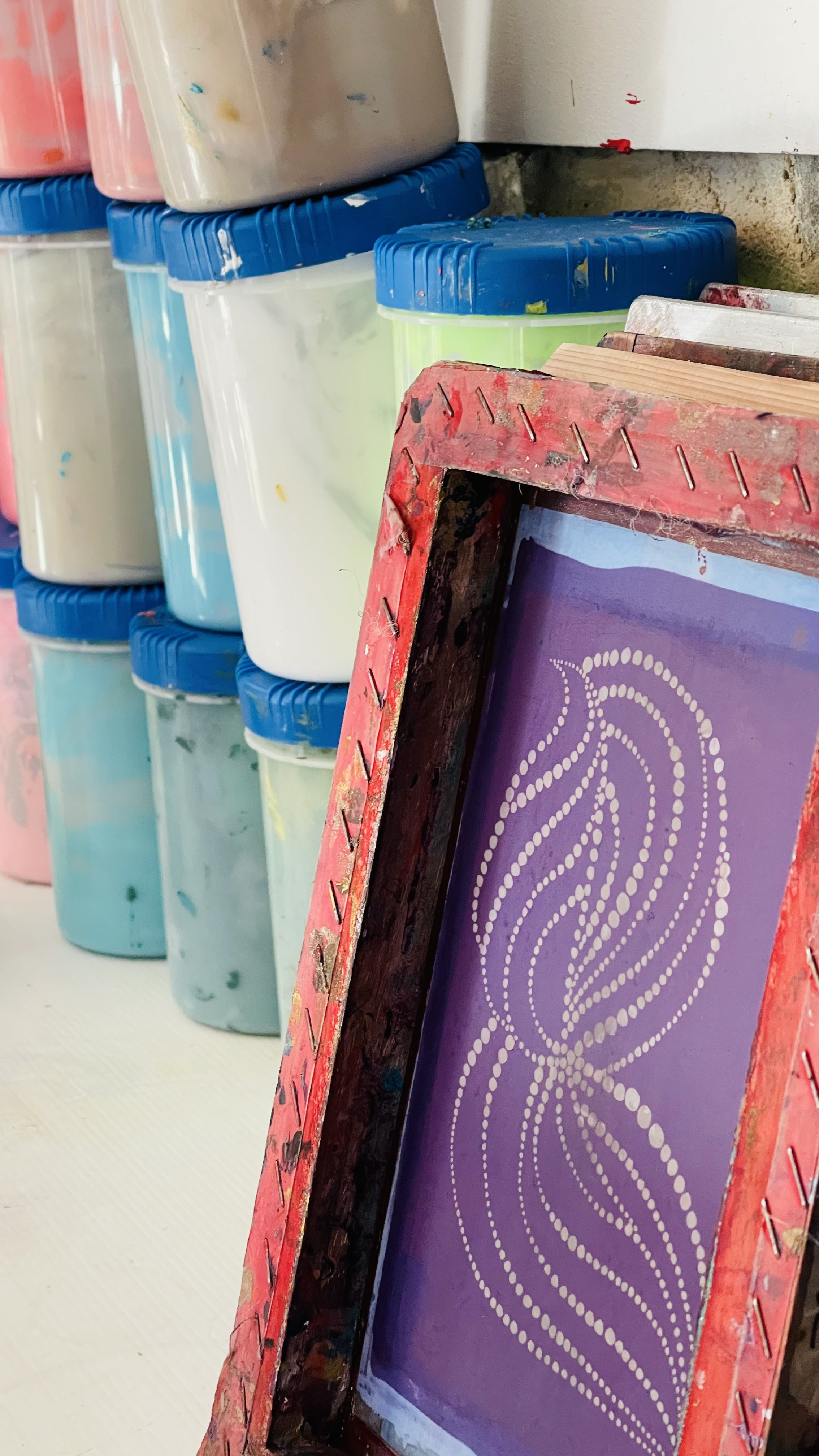 sérigraphie artisanale sur textile