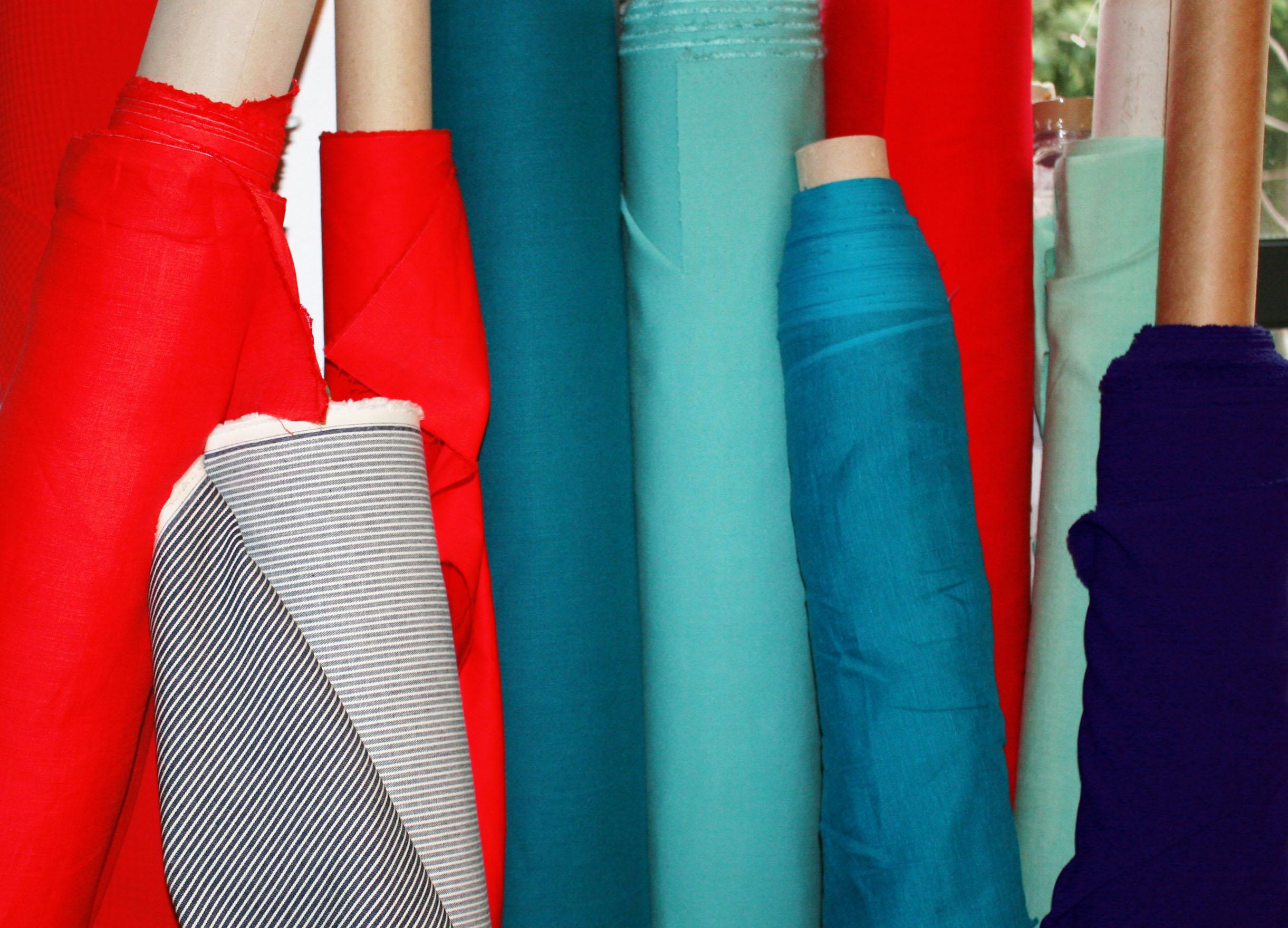des tissus issus de rebuts de la haute couture