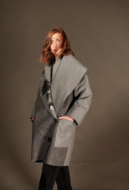 manteau-laine-gris-imprimé-grandcol-poches-hiver-2021-michele-forest-design