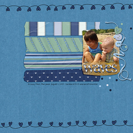 """created for fun August 15, 2011 with kit, """"I Love My Boy"""" and template """"Fun With Scissors"""" both by Jen C Designs"""