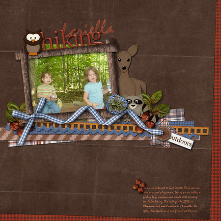 created for Funky Playground Designs July 2011 speed scrap with TrixieScraps Great Wilderness Lodge kit