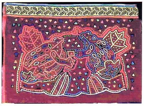 Frogs In Myth And Religion CXXXVIII Kuna Indian Frog Molas