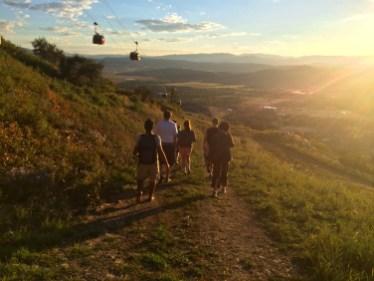 Hiking back down.