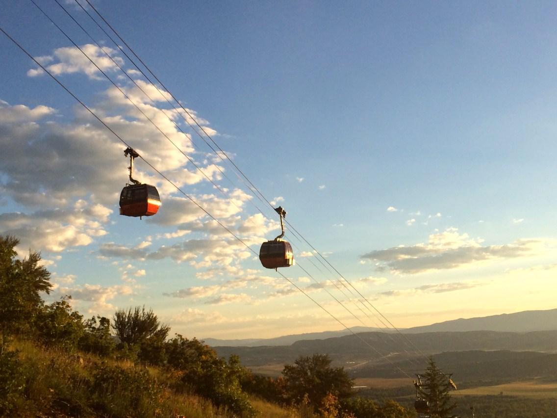 Gondolas in the morning sun.