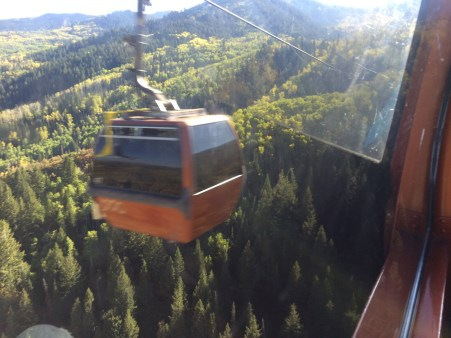 Looking out from Gondola window.