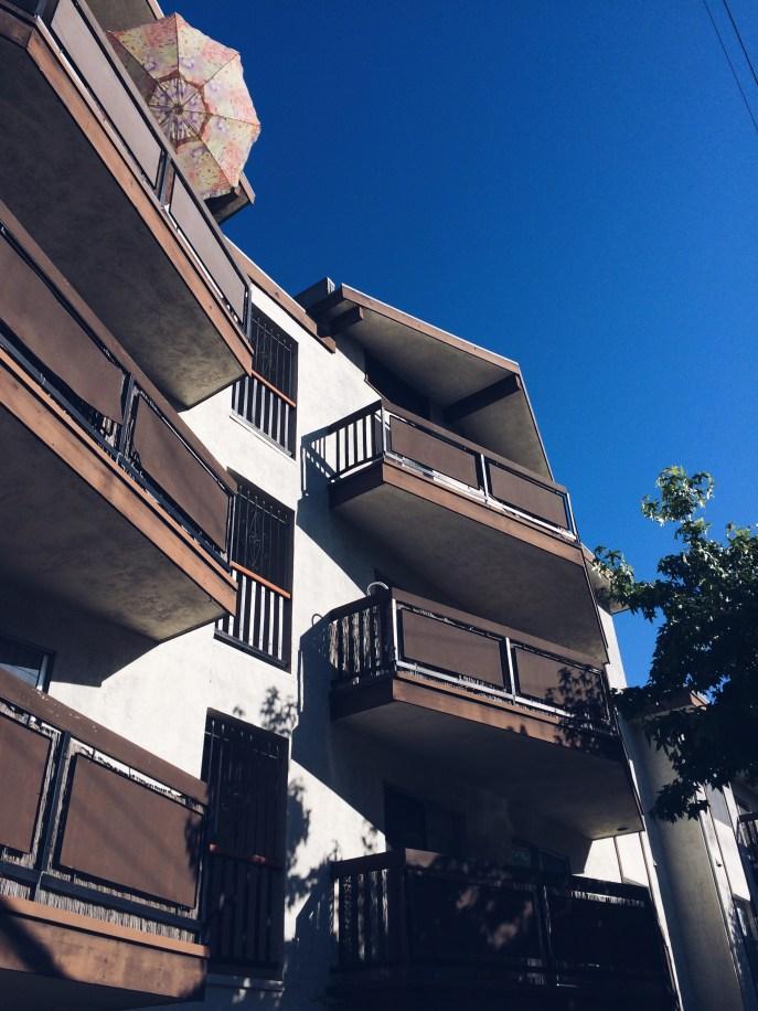 Pretty apartment building.