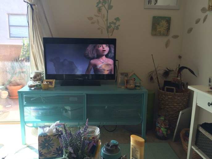 Watching The Croods.
