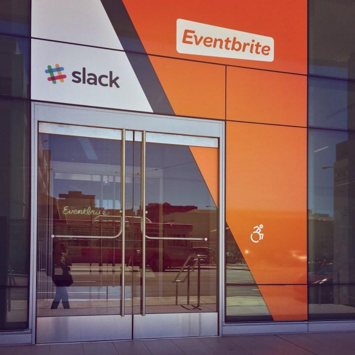 Eventbrite and Slack, in SOMA. San Francisco.