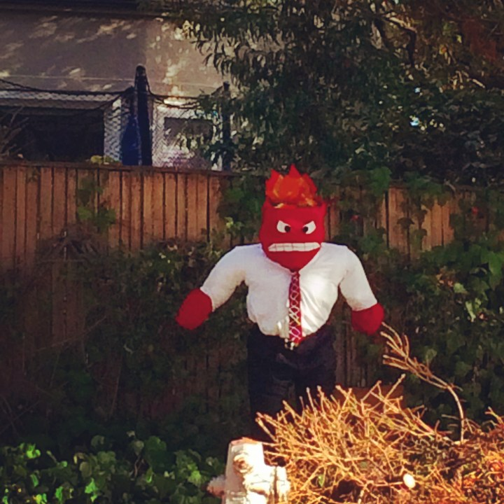 All I see is anger. Spotted in front of a house on the Oakland-Piedmont border.