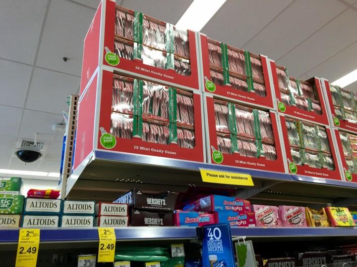 A hint of Christmas at Walgreens.