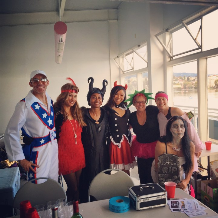 Halloween Howl with my Oakland Renegades teammates!