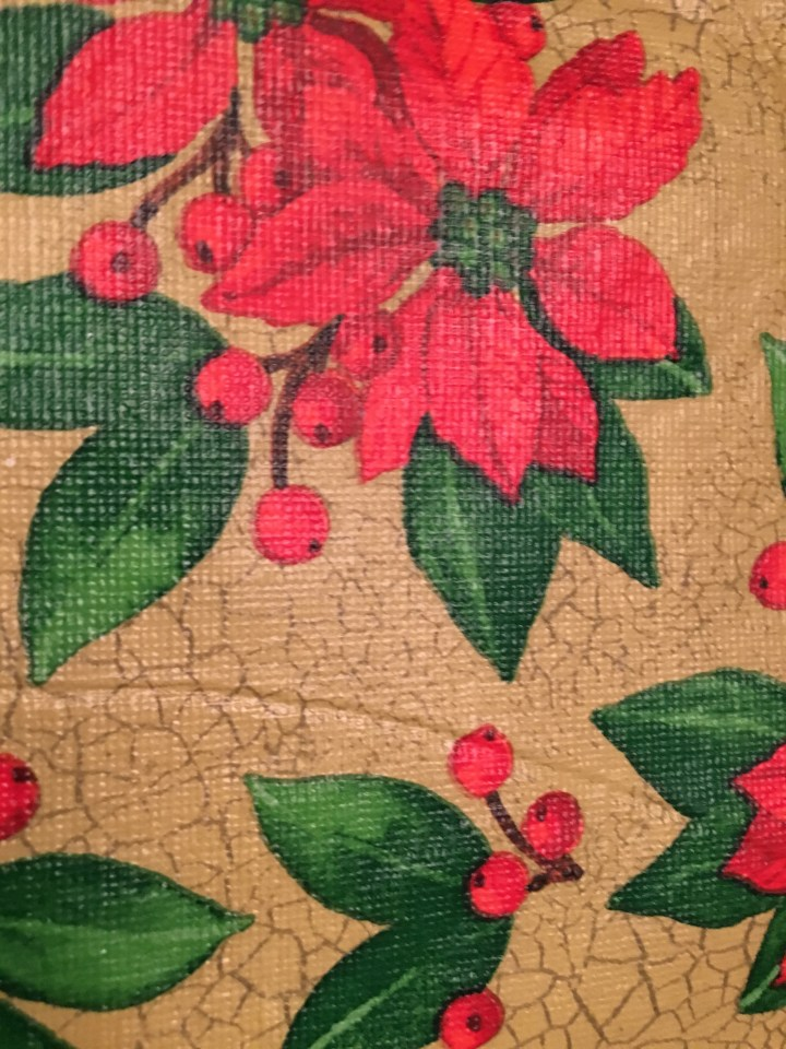 Festive tablecloth.