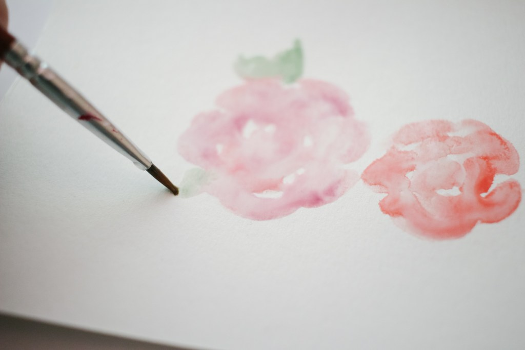 DIY Watercolor Card for Beginners, C Method for Watercolor Flowers