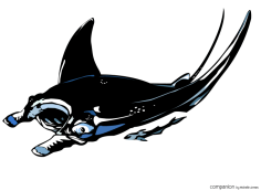 Vectorized manta ray