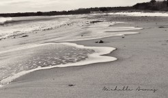 On a cold winter day in Cape Elizabeth, the waves rushed up to meet my boots on Crescent Beach.