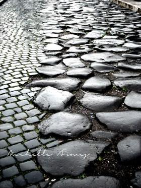 Cobblestone road in Rome