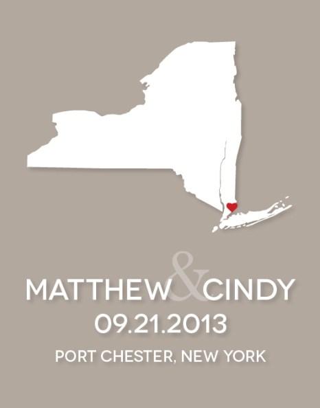 NY wedding graphic
