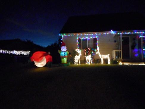 XMas Lights Santa fell down
