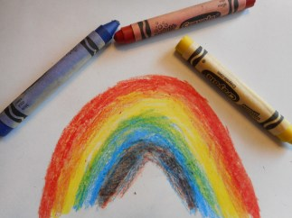 How to draw a rainbow Step 3