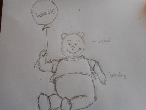 How to dray Winnie-the-Pooh Step 3