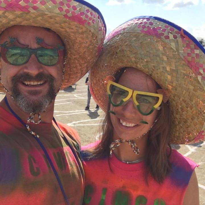 Clients Jon & Jamie in Mexican hats
