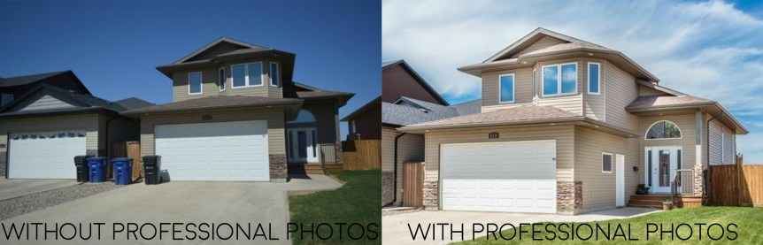 Professional Real Estate Photos before and after