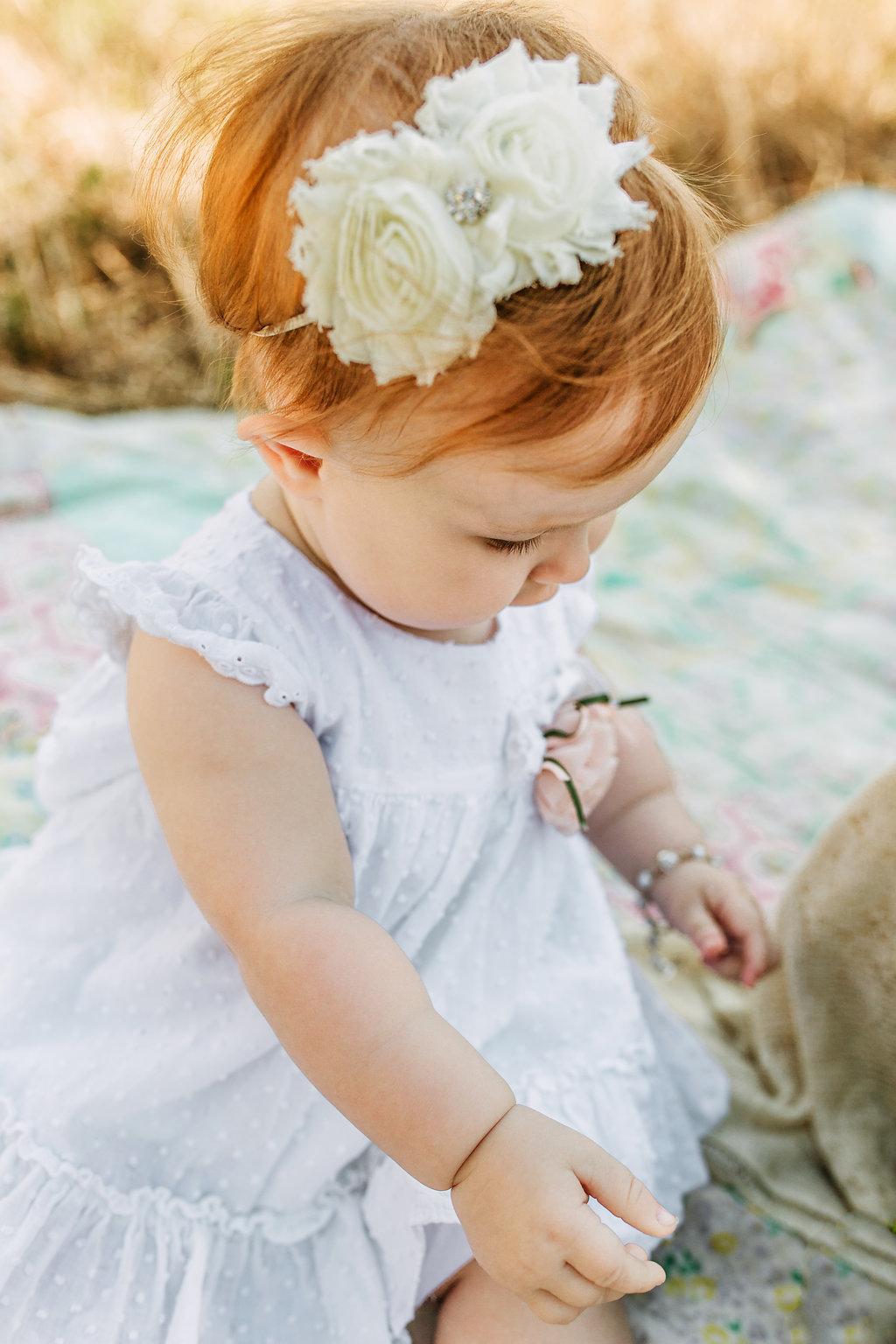 Flower-Headband-White-Dress-Baby-First-Birthday-Girl
