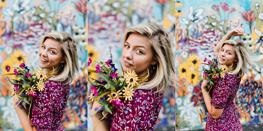 Grean-Pea-Salon-Flower-Mural-12th-South-Nashville-Triptych