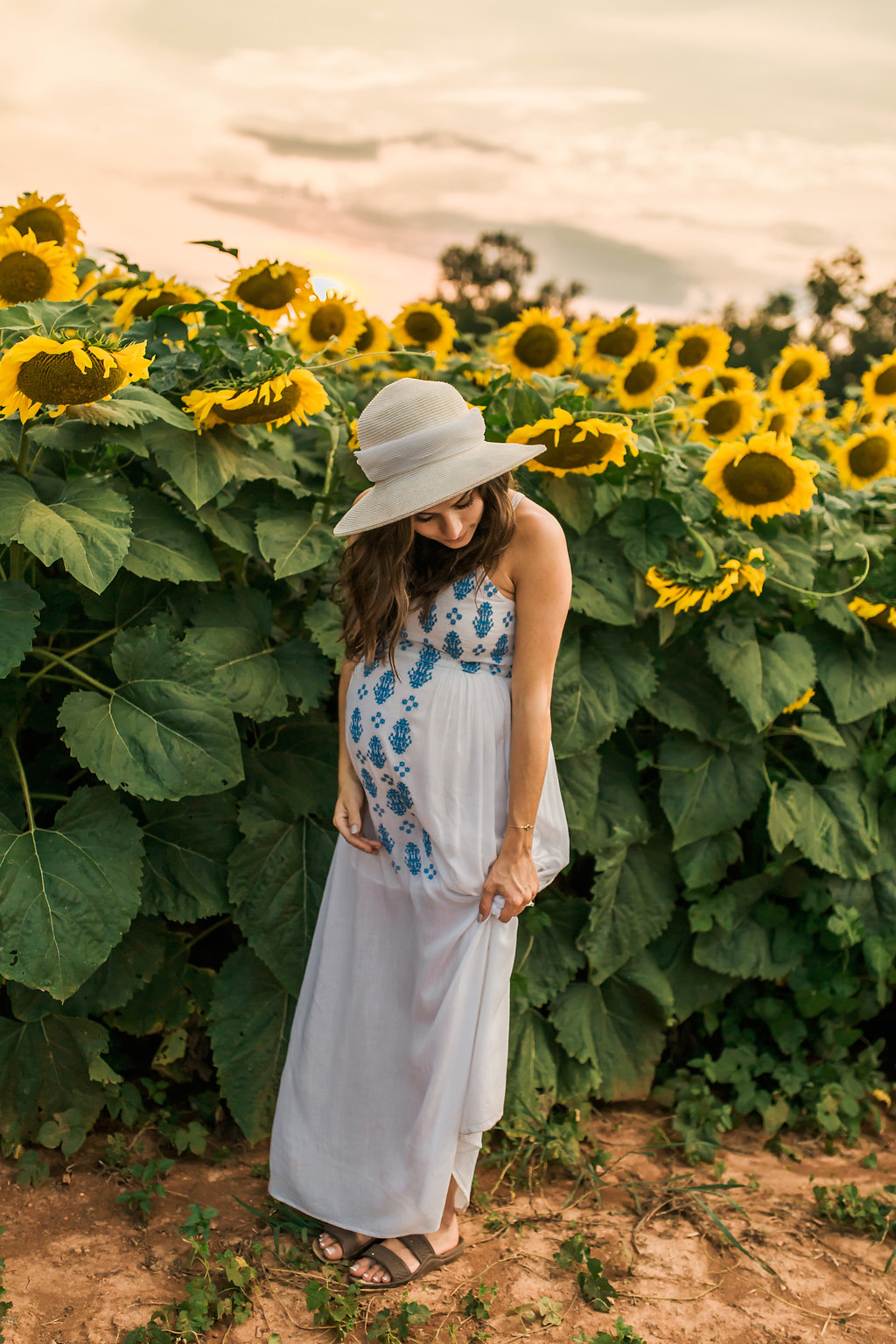 Sunflower-Maternity-Nashville-Tennessee-Field-Batey-Farms-11