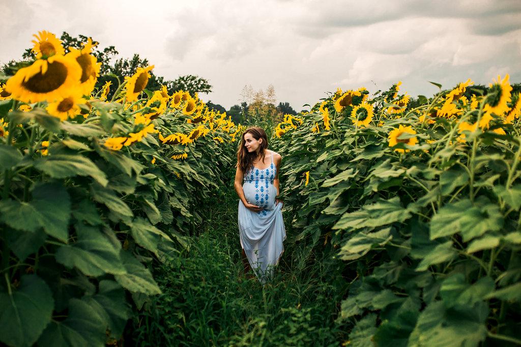Sunflower-Maternity-Nashville-Tennessee-Field-Batey-Farms-19