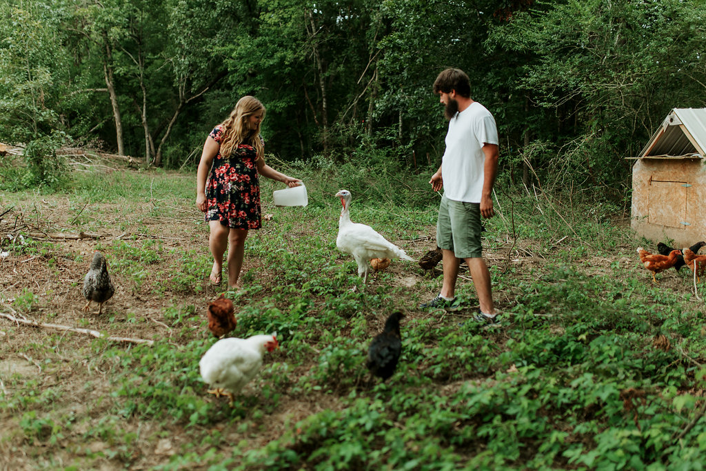 Tennessee-City-Turkey-Chickens-Farm-Country-Living-Maternity-Couples-Alpha-Gal-2