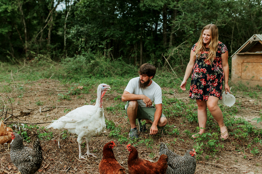 Tennessee-City-Turkey-Chickens-Farm-Country-Living-Maternity-Couples-Alpha-Gal-6