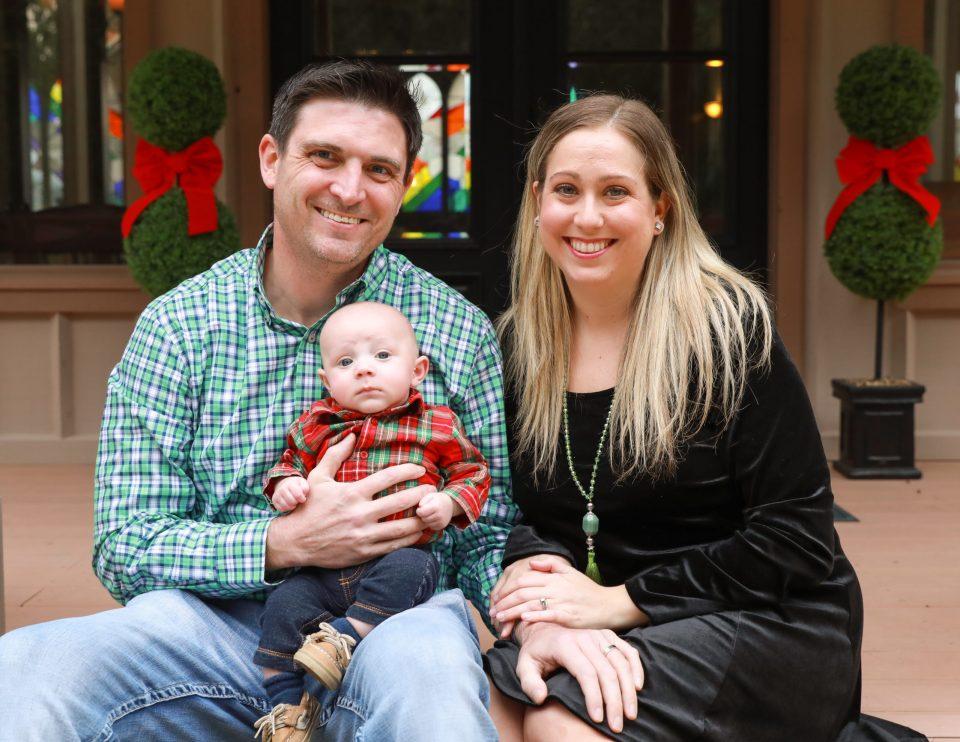 Newborns first Christmas in Florida