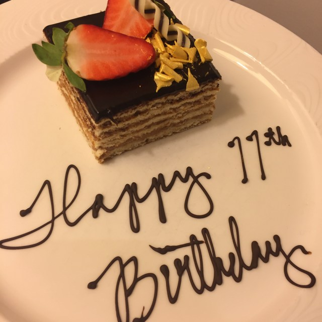 Thankyou waldorfhilton for the amazing birthday cake placed in ourhellip