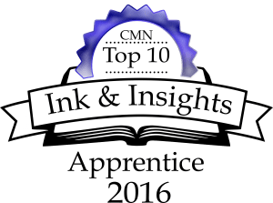 Ink and Insight top ten badge