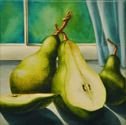 A Pear Accord watercolor Painting by Michelle East