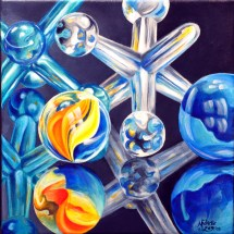 Marbles and Jacks acrylic Painting Michelle East