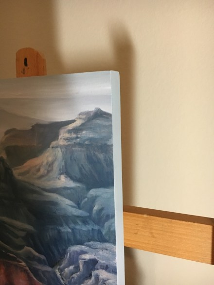 blue chasm painting