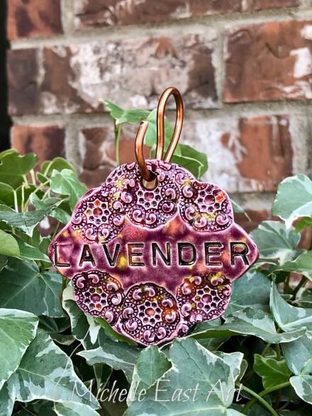 Lavender clay Garden Marker LabelV