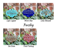 Parsley clay herb garden marker label