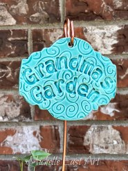 Grandma's Garden Ceramic Plant Marker