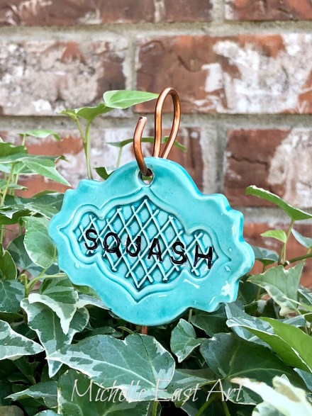 Squash clay garden marker label