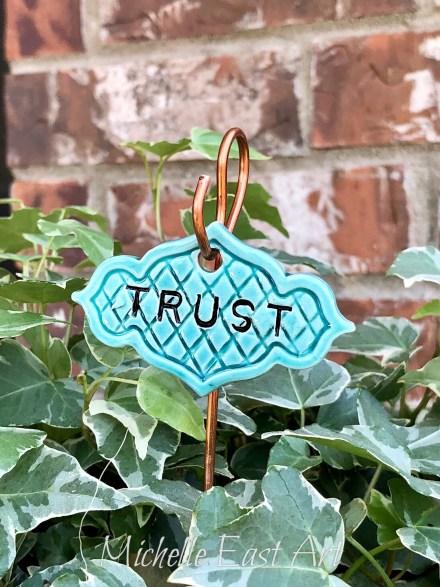 Trust clay Garden Marker V