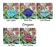Oregano clay herb garden marker label