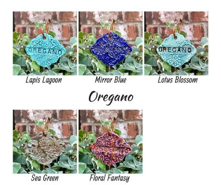 Oregano clay herb garden marker label