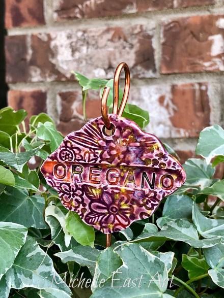 Oregano clay Garden Marker Label
