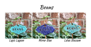 Beans clay garden marker label