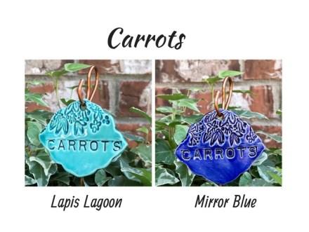 Carrots clay garden marker label